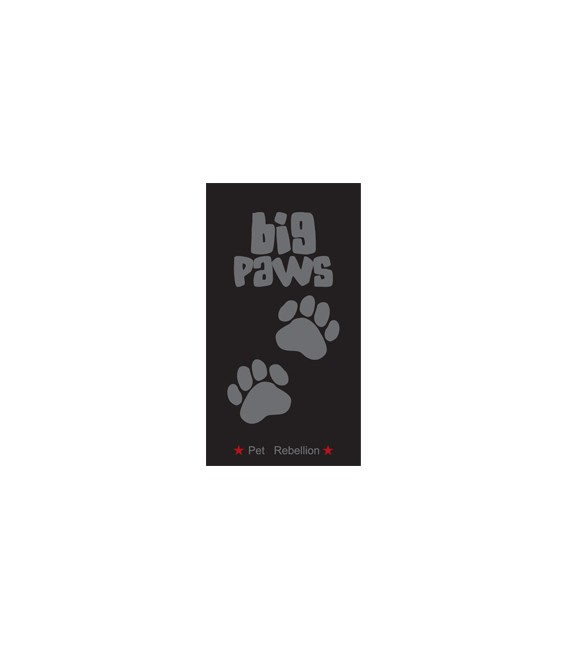 BIG PAWS BLACK 57 X 120 CM