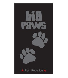 BIG PAWS BLACK 57 X 120 CM
