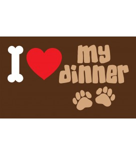 I LOVE MY DINNER BONE 40 X 60 CM