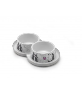 DOPPEL TRENDY DINNER 2X350ML CAT'S IN