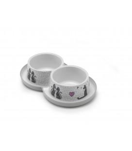 DOUBLE TRENDY DINNER 2X350ML CAT'S IN L