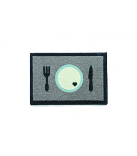 TAPIS GAMELLE 40 X 60 CM DINNER GRIS