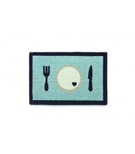 TAPIS GAMELLE 40 X 60 CM DINNER BLEU