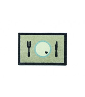 TAPIS GAMELLE 40 X 60 CM DINNER BEIGE