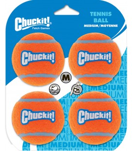 TENNIS BALL MEDIUM CHUCK IT 4 PACK