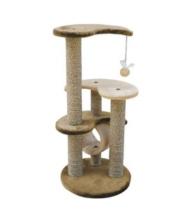 ARBRE A CHAT YING YANG CAT MARRON / BEIGE
