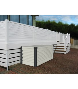 PATIO LARGE WHITE/ANTHRACITE 187.5 X 78.5 X 72.5 CM