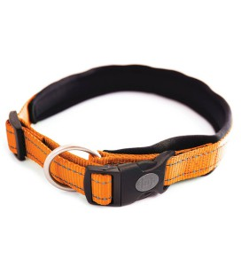 COLLIER REGLABLE POUR CHIEN NEO ORANGE 25MM-55/60 CM