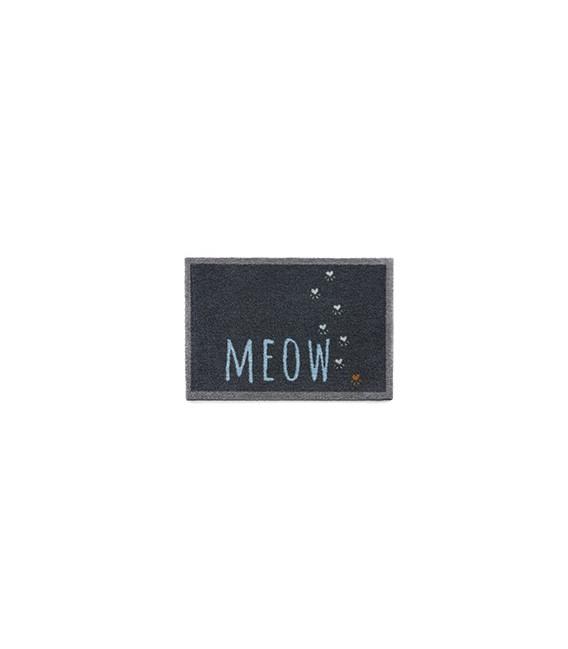 TAPIS D'ENTREE MEOW GRIS FONCE 50X75CM