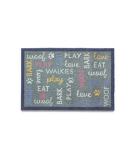 TAPIS D'ENTREE WOOF WORDS 50X75CM