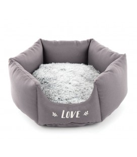 CORBEILLE RONDE  IGLOO 50 CM GRISE