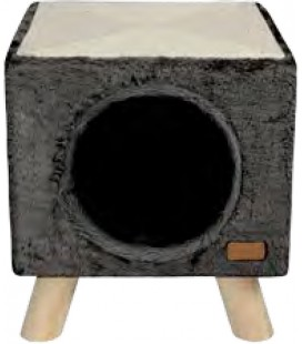 CAT HOUSE & SCRATCHER PILOTI 30X30X35 CM ANTHRAZIT