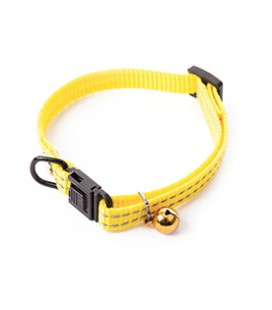 COLLIER REGLABLE NYLON FLASH JAUNE