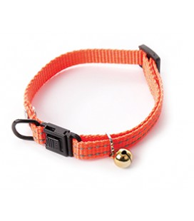 COLLIER REGLABLE NYLON FLASH ORANGE