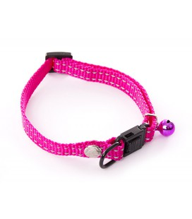 COLLIER REGLABLE NYLON FLASH ROSE