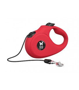 LAISSE RETRACTABLE CORDE INSTINCT 5 ROUGE