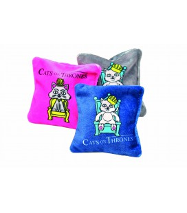 COUSSIN DE JEU CATS ON THRONES MIT BALDRIAN