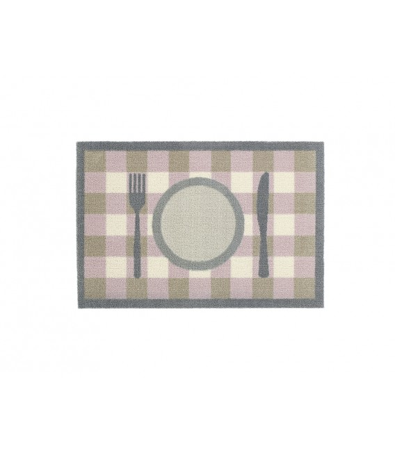TAPIS POUR GAMELLE TEATIME CHECK PINK 40X60CM