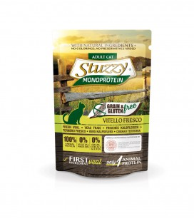 CARTON DE 16 SACHETS STUZZY CHAT 85 G VEAL GRAIN FREE MONOPROTEIN