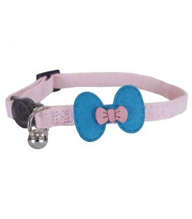ROSEWOOD COLLIER PINK AND TEAL BOW