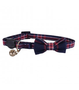 ROSEWOOD HALSBAND NAVY AND RED TARTAN