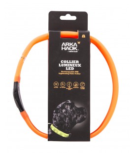 ARKA HAOK COLLIER LUMINEUX ORANGE 2,5X65 CM