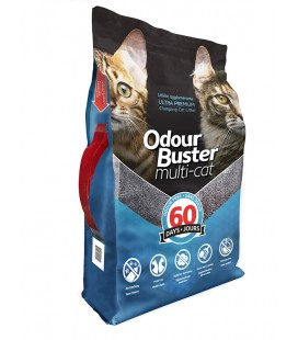 ODOUR BUSTER 12 KG LITIERE MULTI-CHAT NON PARFUMEE